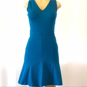 Banana Republic Fit & Flare Dress Teal Blue 2